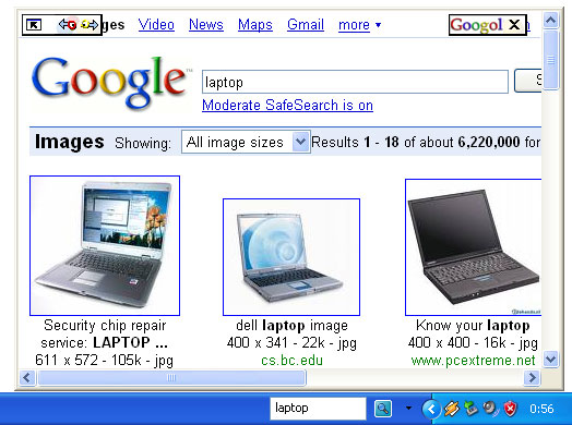 Click to view Googol Deskbar 2.0 screenshot